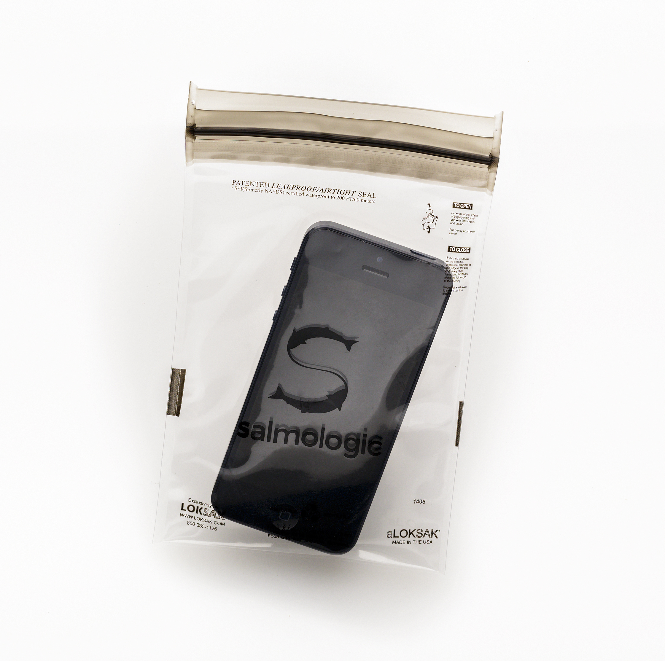 Reuse-able lok-sak bag replacing old fly line packaging.