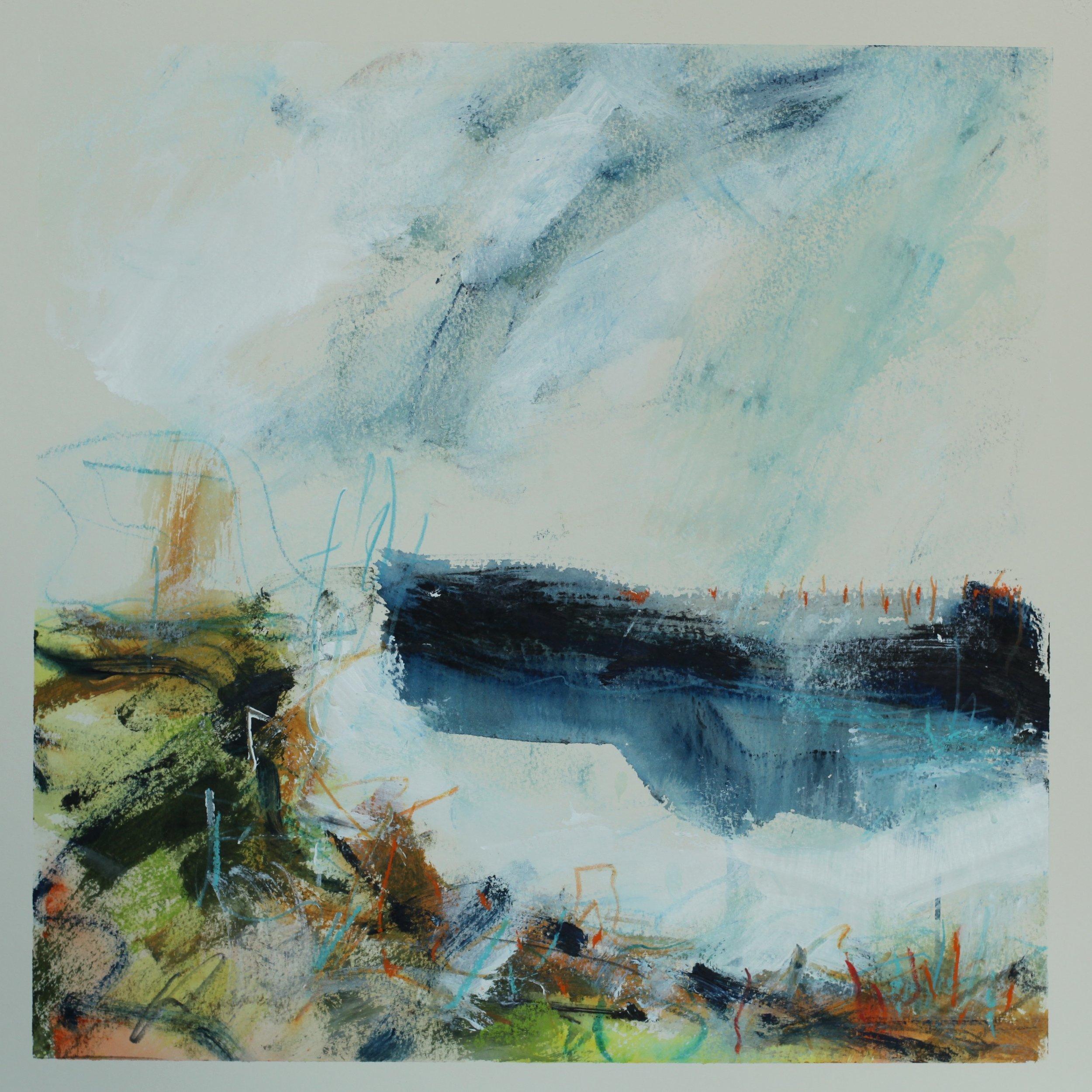 Along the coastal path, watercolour, 40x40cm