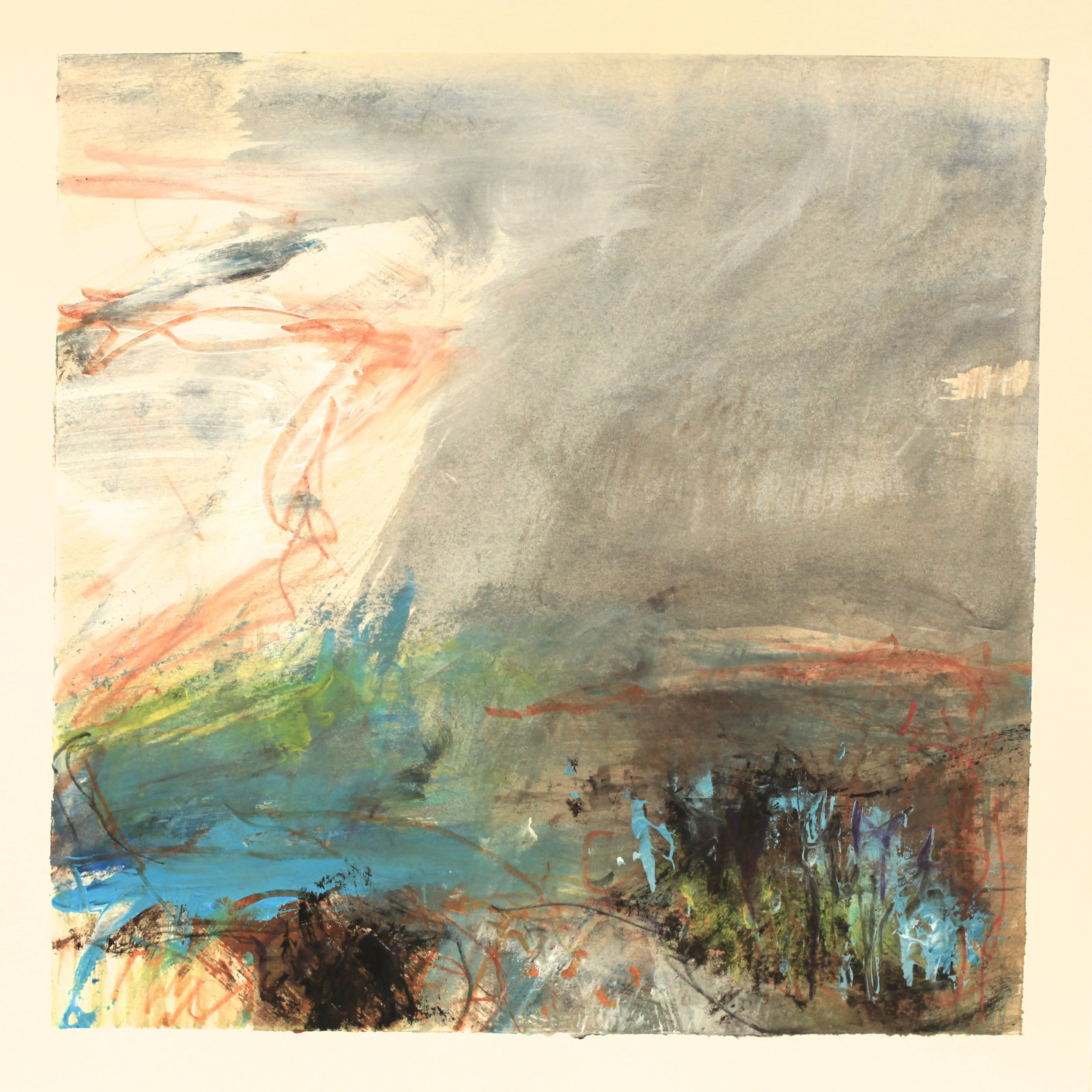 Water's edge, watercolour, 28 x 28cm
