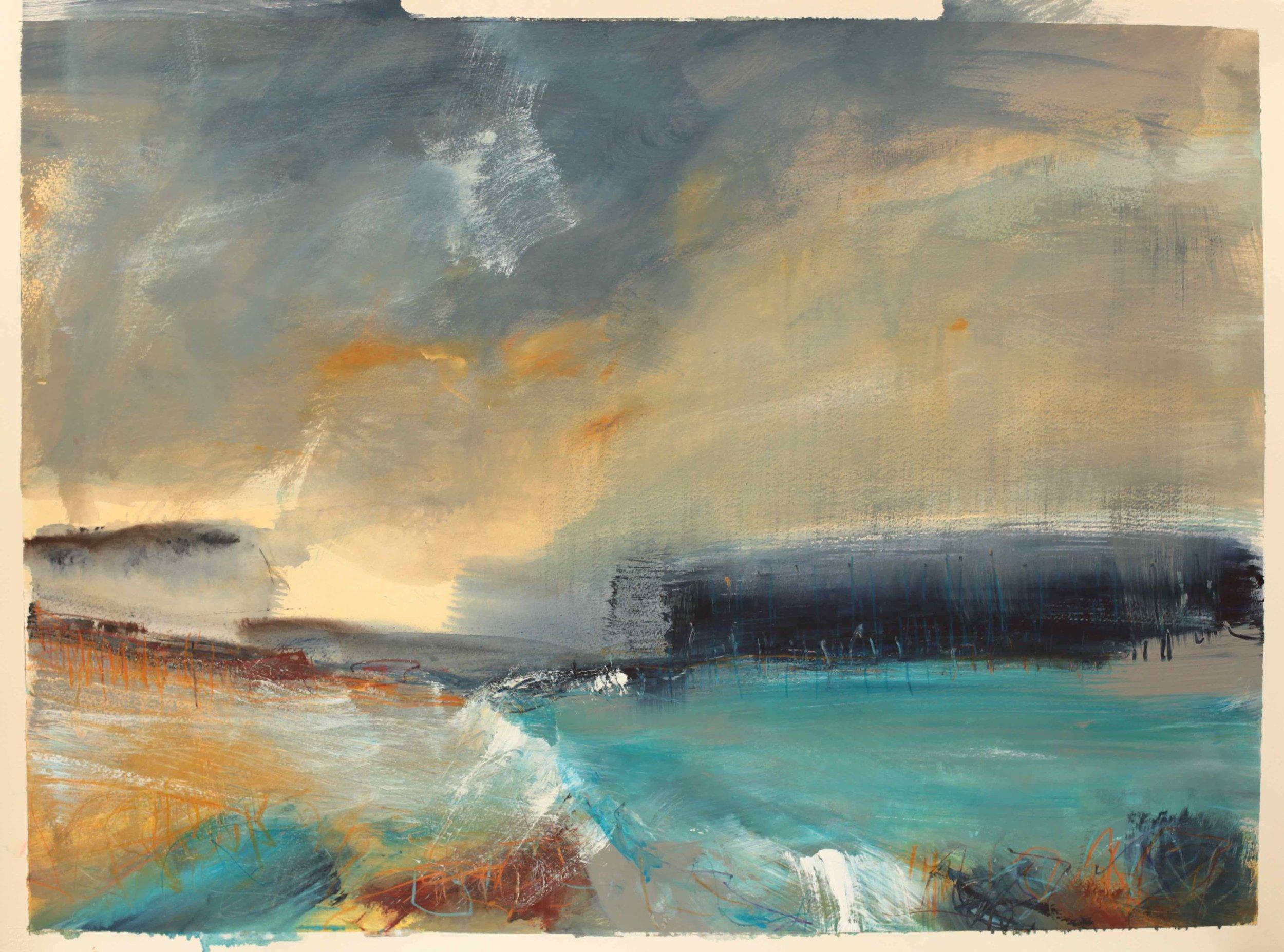 Deep blue,  Watercolour, 60x84cm