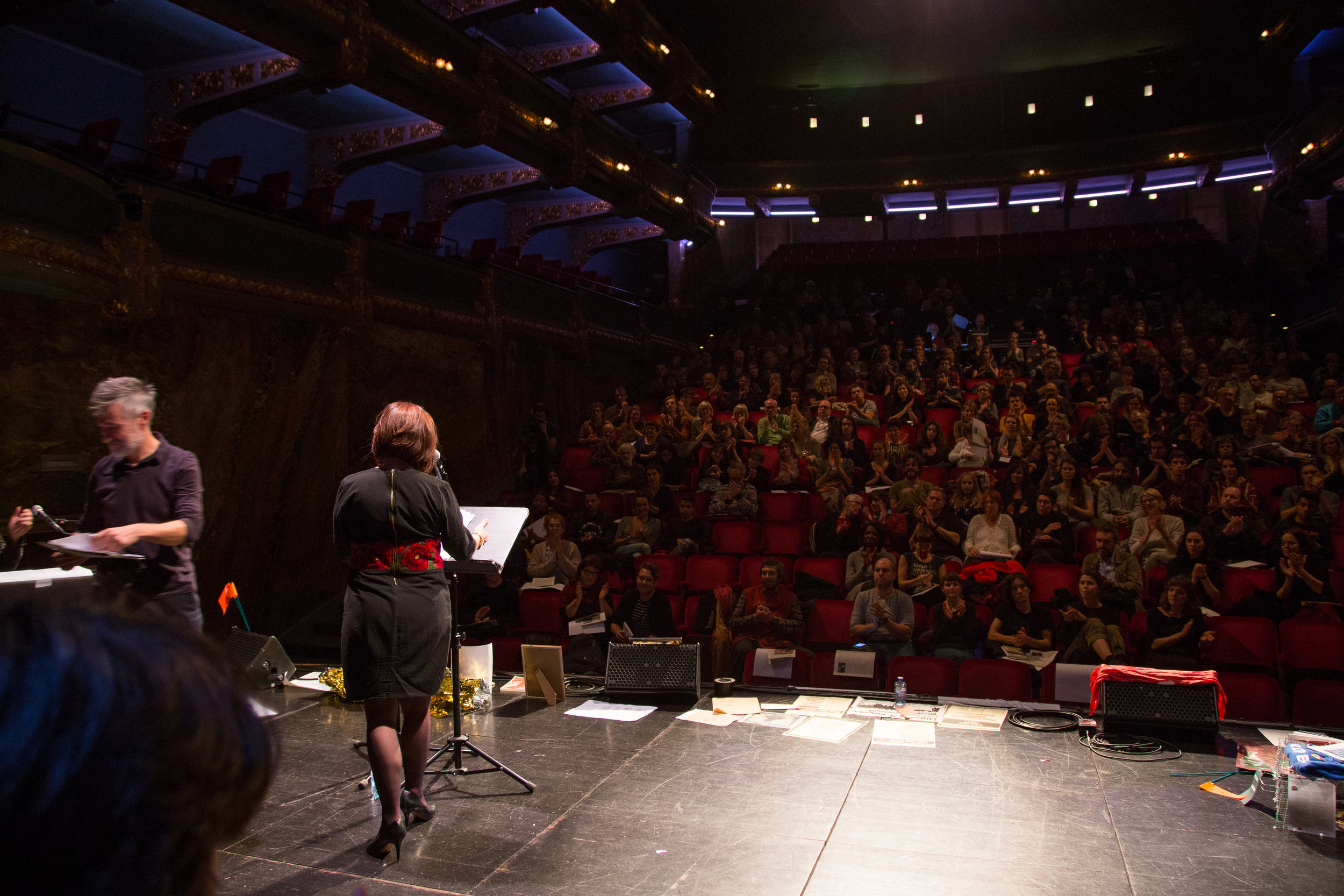Addressing the Belgium public at the Closing Session of the Art of Organising Hope, New Narratives for Europe, Voourit, Ghent, 11/11/18.