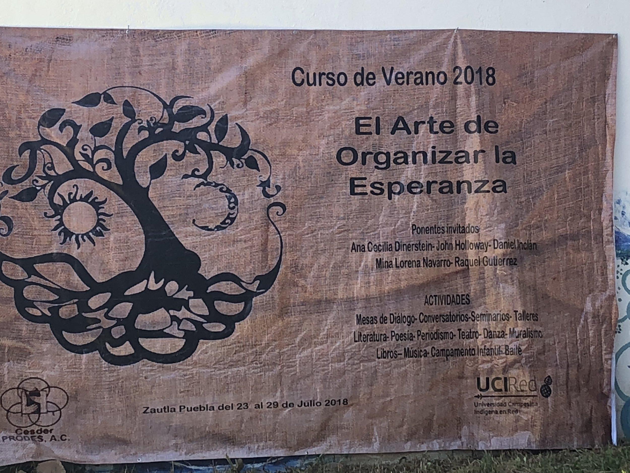 Summer Schoo l The Art of Organising Hope at CESDER, Zautla, Puebla