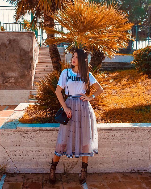 @eleonora_maressa in our Polka Dot skirt