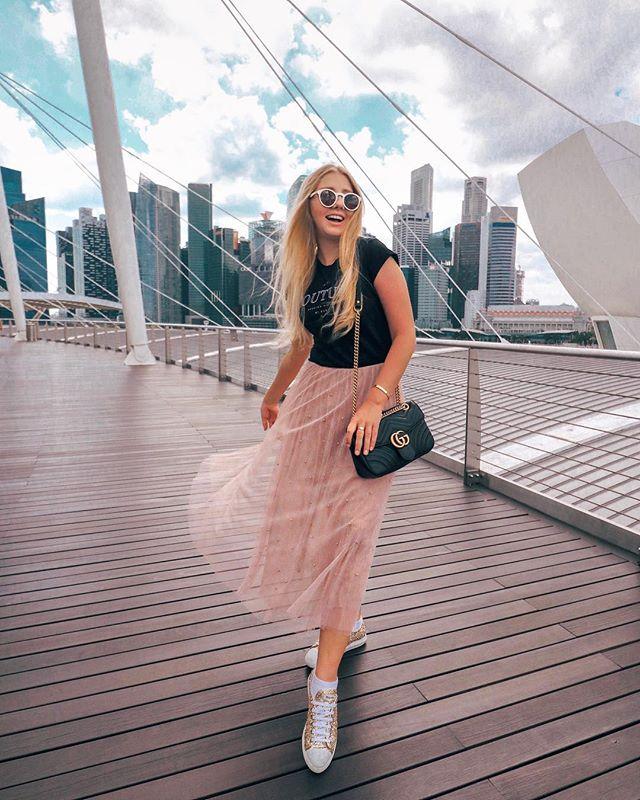 @oksana_domoratskaya in our Pearl skirt