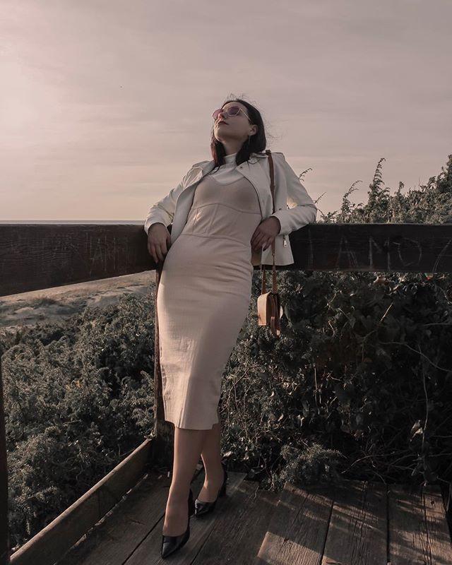 @taniastolaryenko in our white leather jacket