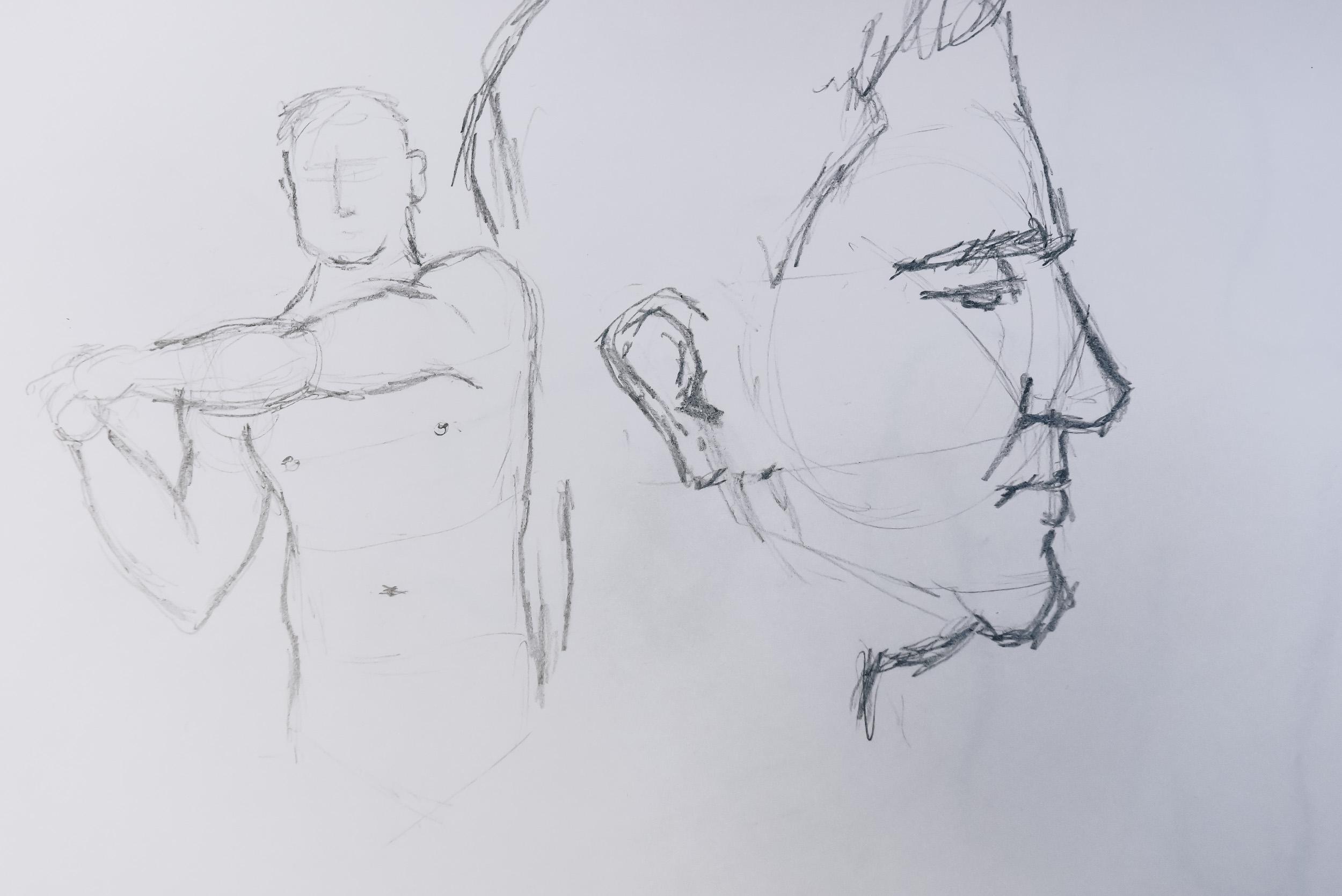 Life Drawing at Bar21, January Re-cap — Bee Creative Studio