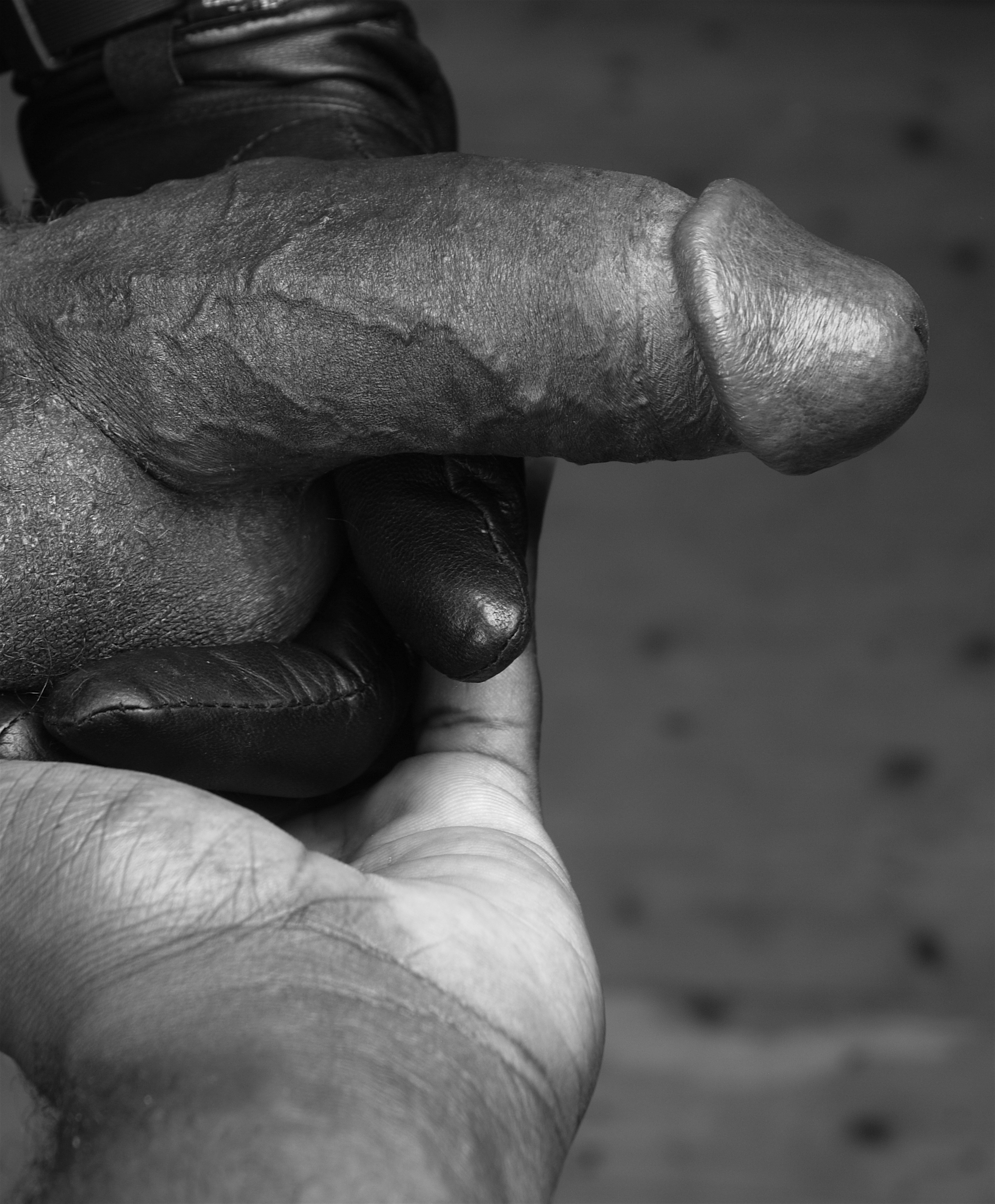 Ajamu's hand holding Dick - Ajamu _ Image 1 2015.JPG