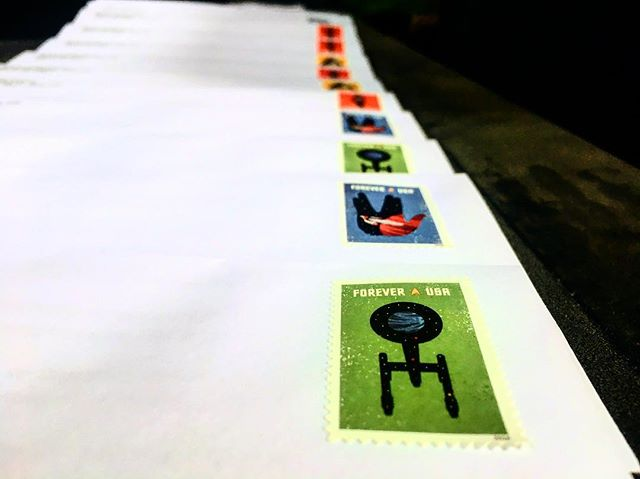 #foreverusa stepping stones into another galaxy! Personalized and dashed with care. The CITYMAIL way. . #startrekstamps #foreveryoung #lookatthatgreen #lineduppretty #directmailpeabody #directmail #personalizedcampaign #tinydetails #peabodyma #lynnma #salemma #beverlyma #localprintandmail #mailnow #tangibleletters