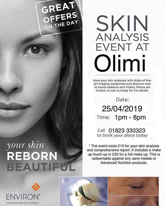 Jane Iredale Skin analysis evening at Olimi 🎉 limited spaces so get booked in now! 🤩 #janeiredalemakeup #janeiredaleuk #advancednutritionprogramme #olimi