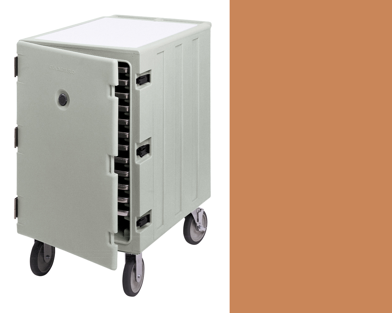 Camcart in beige,  Compartment dimensions: 26 1/8 x 26 1/4 x 18 3/8IN, $25/day