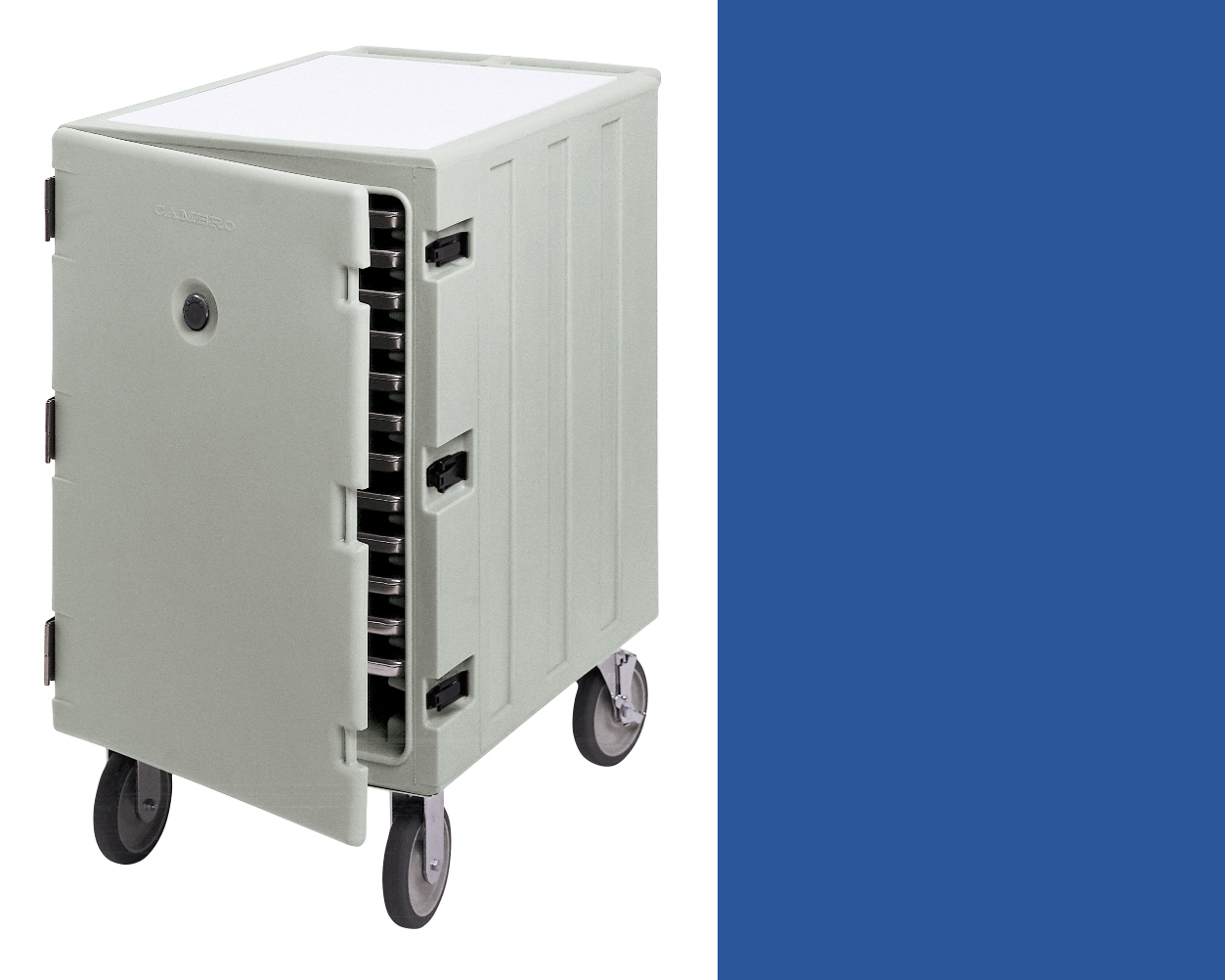 Camcart in blue,  Compartment dimensions: 26 1/8 x 26 1/4 x 18 3/8IN, $25/day