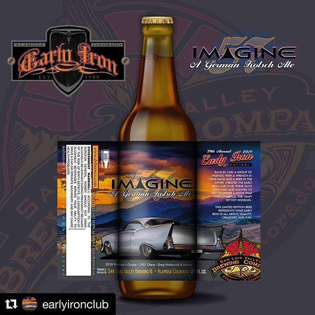 Designed the new beer label for the new special edition beer coming soon!... #Repost @earlyironclub with @get_repost ・・・ Hand-crafted German Kölsch Ale made by San Luis Valley Brewing Co. Coming soon! #craftbeer #hotrods #earlyiron #earlyironfeatival #graphicdesign #designstudio #beerlabel #beerlabeldesign