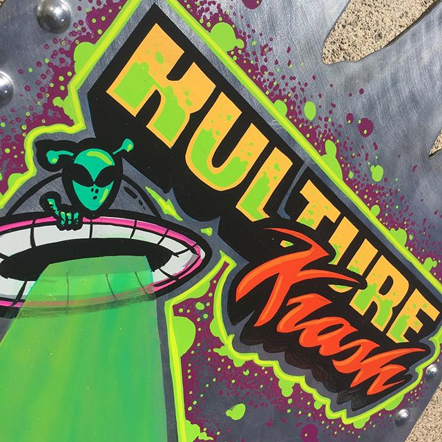 "Fun panel for last year's ""Kulture Krash"". #handpainted #signmaker #signshop #sign #handlettering #signpainter #kulturekrash #kulturekrash2018"