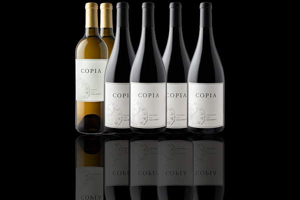 PREMIUM CLUB - One shipment of a twelve (12) bottle collection that includes a premium selection Copia white, rosé and red wines. 30% discount on all wines! Priority access for purchase of allocation wines.