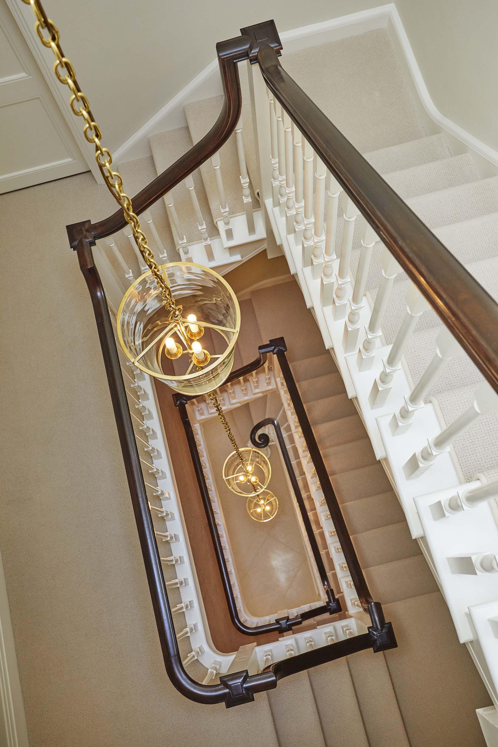 Lighting design stairs apartment block