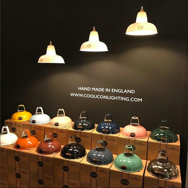 #Coolicon Original - cooliconlights #OriginalCoolicon at #Light+Build in Frankfurt #enamelcolours and fine #bonechina