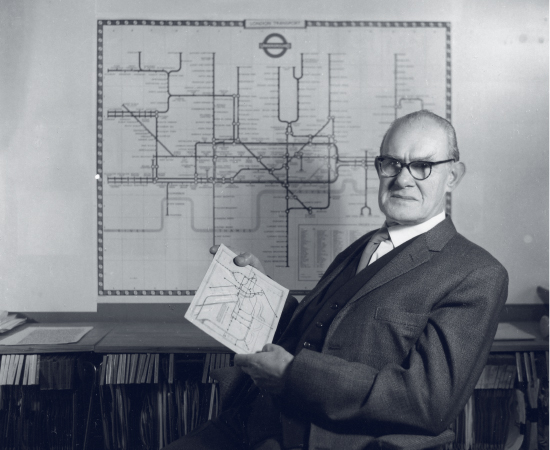 Harry Beck - Harry Beck is famous for creating the original London Underground map back in 1931. Trained as an engineering draughstman, Beck used his experience to map the complex tube route in the same colour co-ordinated format found in circuit boards to propose a radical solution that was lauded on its release in 1933.