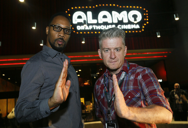 Wu-Tang Clan founder, RZA, with founder and CEO of Alamo Drafthouse, Tim League.  Photo by Jack Plunkett