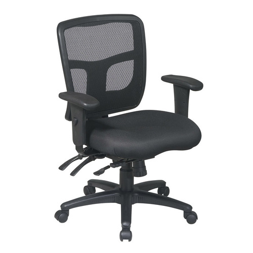 Quick Overview   Mesh It ProGrid manager chair features multi-function control with seat slider. The arms are height and width adjustable.