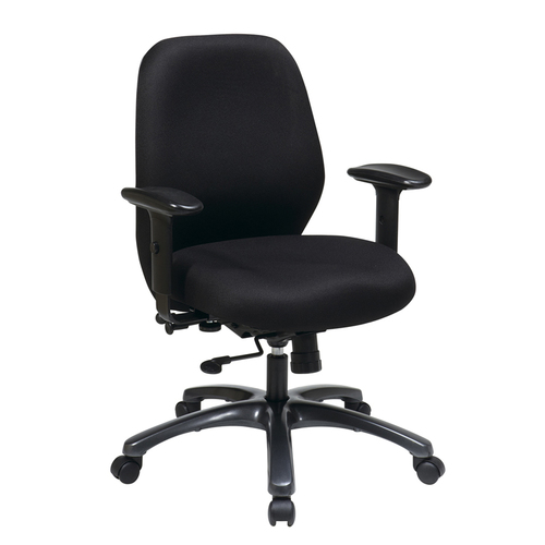 Quick Overview   Task It- 24/7 chair has a thick padded seat and back with built-In lumbar support. The Pneumatic Seat Height Adjustment with 3 Position 2-to-1 Control with Locking Tilt with Adjustable Tilt Tension. The chair has a seat slider for maximum adjustability.