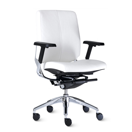 9to5 Cosmo Leather Mid-Back Task Chair   $505