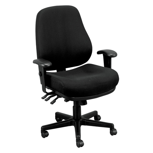 Quick Overview   The Eurotech 24/9 Task Chair features a recline rate that adapts to weight of user. The chair tilts from a point under the center of the seat allowing you to rock back and forth. It is tension adjustable and locks out tilt function. The seat and back cushions are extra thick. A great choice for anyone seeking all around comfort.