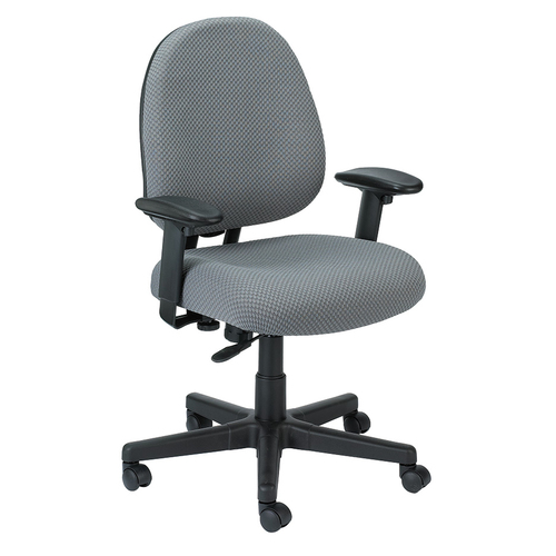 Quick Overview   The Cypher Task Chair's primary focus is comfort. The front of cushion slopes to reduce pressure on the back of the knees. Raise or lower to support the lumbar (lower back) region. Features adjustable arm up or down for proper ergonomic positioning while seated.