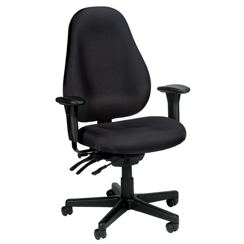 Quick Overview   The Eurotech Slider chair features a great ergonomic choice with an upholstered back. This high end product is at an economical price with waterfall seating that creates a stress reduced experience.