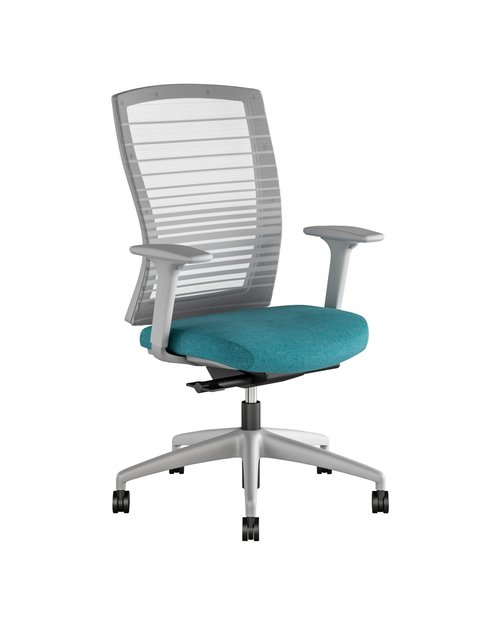 Quick Overview   The user friendly Natick with uncompromised comfort offers clean lines, outstanding fit and finish all resulting in a sophisticated and understated task chair at an outstanding price point. Seat height, seat depth, adjustable lumbar support and 3D arm adjustability along with multiple position back lock allow the user to fine-tune Natick for their size and shape, tasks at hand and preferences. Natick is equipped with an automatic weight activated synchro tilt mechanism. The back is available in a striped mesh or fully upholstered. The chair can be specified with a black or gray frame, base and arms as well as a variety of upholstery options.