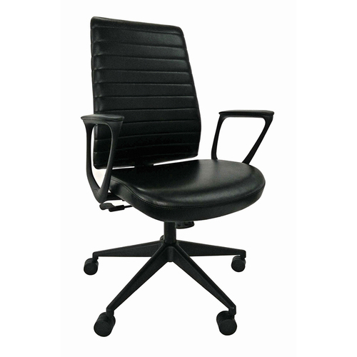 Eurotech Frasso Mid-Back Leather Executive Chair   $675