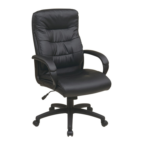 OFD Conference High Back Faux Leather Chair with Padded Arms   $592
