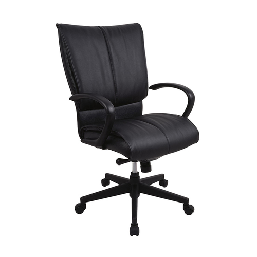 Quick Overview   The Eurotech Louisville Chair is an executive office chair with the comfort of padded leather. This features a sculpted high back and looped urethane arms. The contoured seat features a knee tilt mechanism.