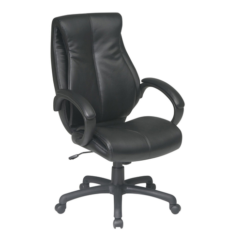 Quick Overview   Leather It-The Executive High Back chair is available in deluxe coated black bonded leather or glove soft espresso leather and features locking tilt control and padded arms.