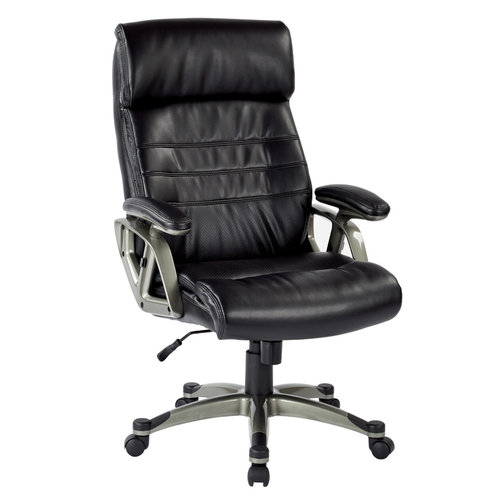 Quick Overview   This OFD executive chair is outfitted with a thick padded back with contour coil spring seat and built-in lumbar support affords for hours of cozy seating, minimizing fatigue and alleviating pressure on the spine.