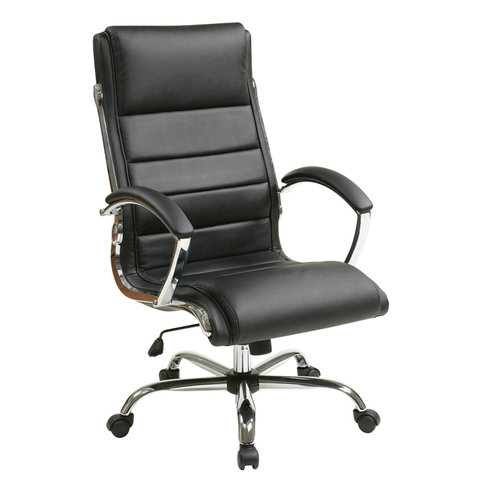 Quick Overview   This contemporary looking OFD Executive Chair is stylish and comfortable with soft faux leather.