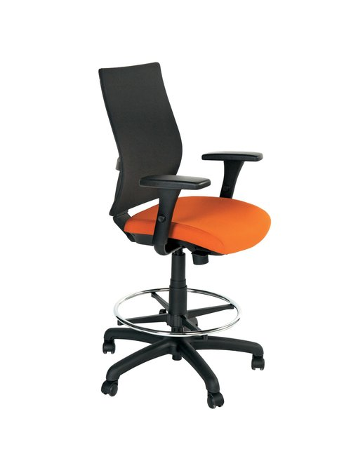 Quick Overview   Mesh back seating for today's workplace environment. Shiloh™ offers comfort and support with an upscale look to compliment any office environment. Offered in task and stool height configurations, Shiloh comes standard with height adjustable arms and pneumatic seat height adjustment. Ergonomic features include a seat slide mechanism as well as pivoting and front-to-back sliding arms allowing Shiloh to be customized for the perfect fit!