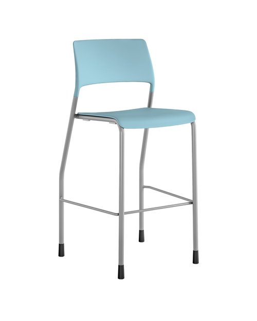 """Quick Overview   The Pierce multi-purpose side chair offers versatility in training, meeting, waiting rooms, cafeteria and offices. Pierce is available as a chair as well as a 28.5"""" (seat height) stool. The Pierce offers clean lines, outstanding fit and finish all resulting in a sophisticated and utilitarian multi-purpose chair and stool at an outstanding price point. The Pierce chair is available with casters or glides while the stool is only offered on glides. The chair stacks up to eight on the floor."""