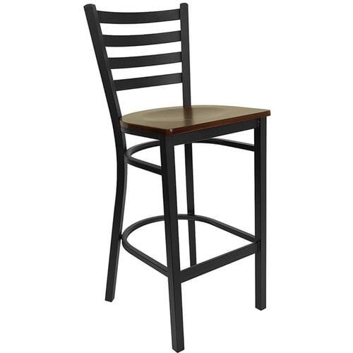 Quick Overview   Cafe it – Black Ladder Back Metal Bar Stool