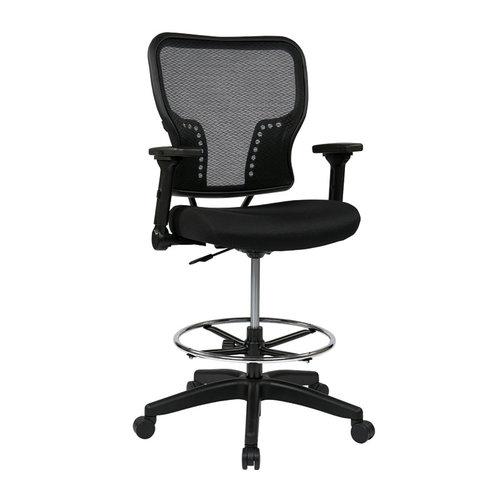 Quick Overview   OFD's Double AirGrid Stool is perfect for any office. The chrome footring provides added comfort.