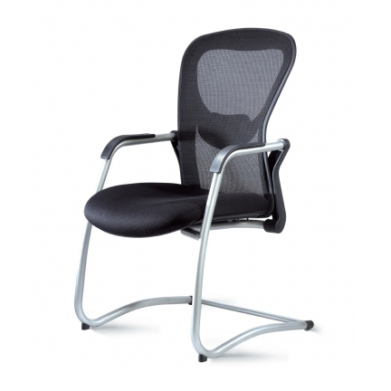 Quick Overview   This Strata Guest Chair features a silver cantilever aluminum frame side chair.