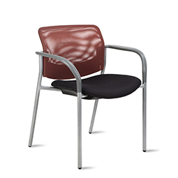 Quick Overview   This Shuttle Guest Chair features a mesh back with upholstered seat.