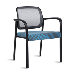 Quick Overview   This Link Side Chair features mesh back with upholstered seat