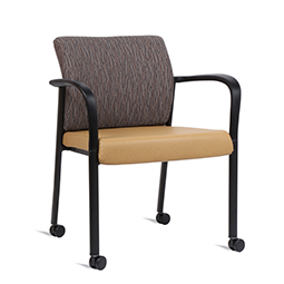 Quick Overview   This Link Side Chair features a mesh back with upholstered seat.
