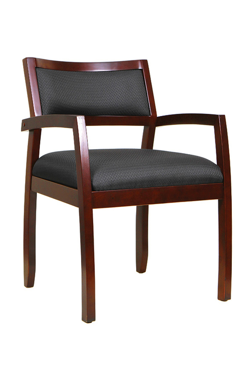 Quick Overview   The Eurotech Cypress wood guest chair features a cherry, mahogany, or expresso wood finish. These Greenguard Certified side chairs are eco friendly, stylish, and comfortable.