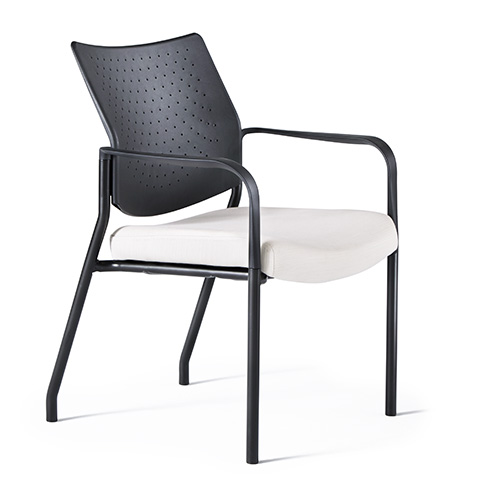 Quick Overview   Comfortable guest seating is needed in every work environment. Neutral Posture presents Facet – the classic, multi-purpose chair for office, lobby, healthcare and training environments. Upholstered, curved backs and seats allow comfort during extended meetings.