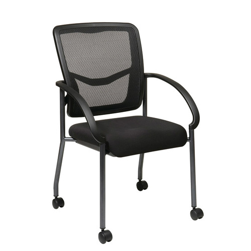 Quick Overview   Mesh It- ProGrid® Chair with FreeFlex® Coal Seat, Casters, and Titanium Frame Finish.