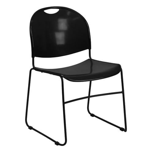 Quick Overview   Stack it- Ultra Compact Stack Chair; Black No-Fade Infused Polypropylene Seat and Back