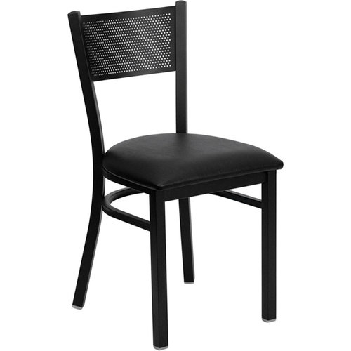 Quick Overview   Cafe it – Black Grid Back Metal Chair