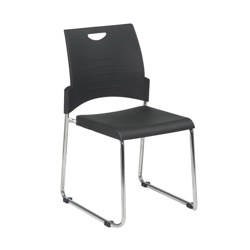 OFD Sled Base Stack Chair with Plastic Seat and Back   $118
