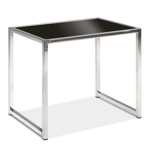 OFD Black Glass/Chrome End Table   451.00
